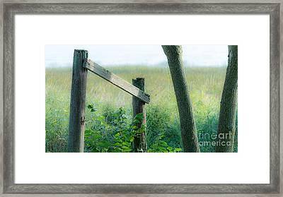 Old Hand Rail Framed Print