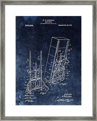 Old Hand Truck Patent Framed Print by Dan Sproul