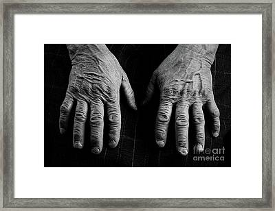 Old Hands Framed Print