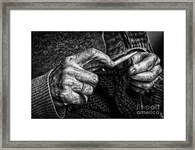 Old Hands Framed Print