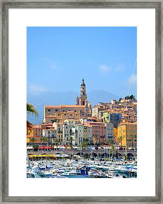 Old Harbor Framed Print by Corinne Rhode