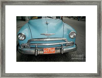 Old Havana Cab Framed Print by Quin Sweetman