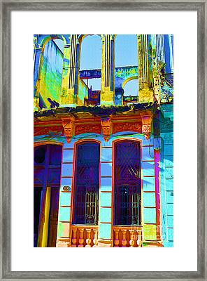 Old Havana Remnant Framed Print by Chris Andruskiewicz