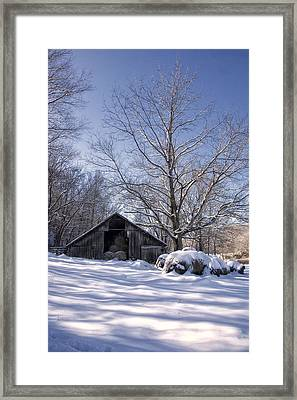 Framed Print featuring the photograph Old Hay Barn Boxley Valley by Michael Dougherty