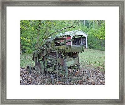 Old Hay Machine Framed Print