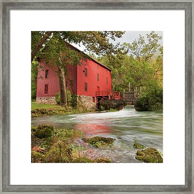 Old Historic Alley Spring Mill In Eminence Missouri Framed Print by Gregory Ballos
