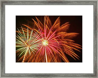 Old Home Days Fireworks Framed Print by Laura Catherine