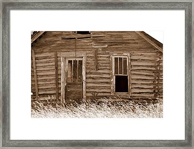 Old Home In The Ozarks Framed Print by Marty Koch