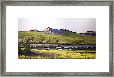 Old Homestead Framed Print by Dalas Klein
