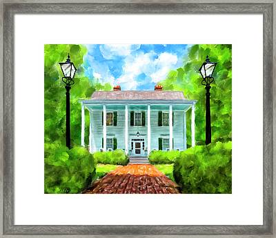 Framed Print featuring the mixed media Old Homestead - Smith Plantation - Roswell Georgia by Mark Tisdale