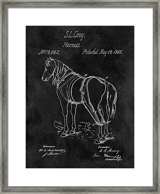 Old Horse Harness Patent  Framed Print by Dan Sproul