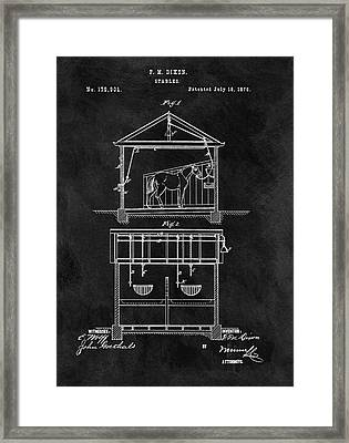 Old Horse Stable Patent Framed Print
