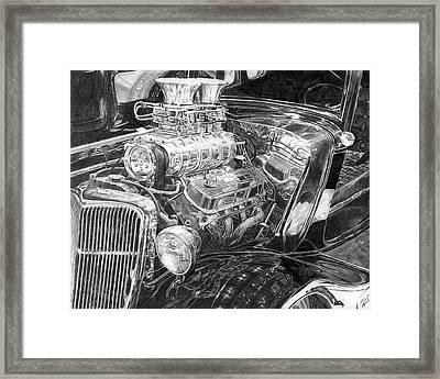 Old Hot Rod Framed Print by Kurt Holdorf