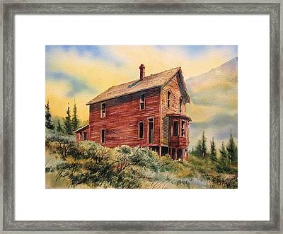 Old House Animas Forks Colorado Framed Print by Kevin Heaney
