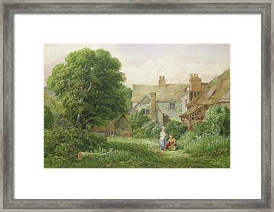 Old House At Hendon  Framed Print