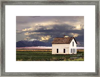 Old House At The Great Sand Dunes Framed Print by Catherine Sherman