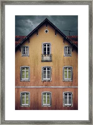 Old House Facade Framed Print by Carlos Caetano
