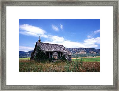 Old House In Idaho Framed Print by Kathy Yates