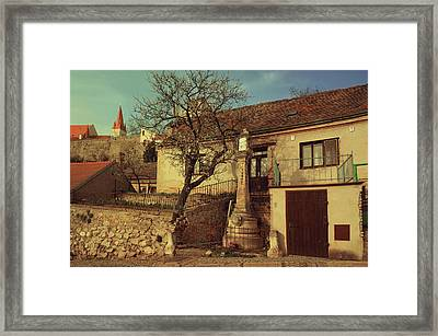 Old House In Znojmo. South Moravia Framed Print