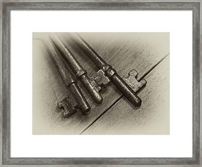 Old House Keys Framed Print by Wilma  Birdwell