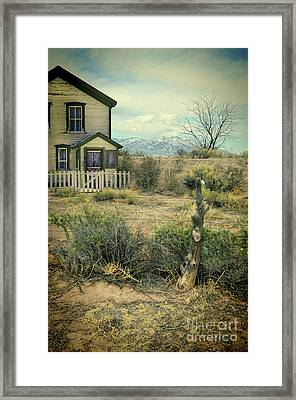 Framed Print featuring the photograph Old House Near Mountians by Jill Battaglia