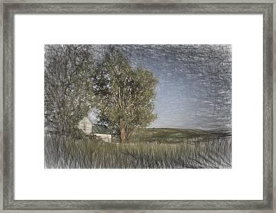 Old House On The Palouse  II Framed Print by Jon Glaser