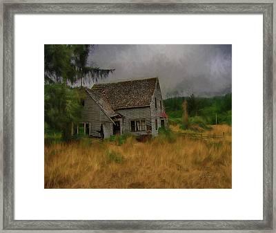 Old House On The Prairie Framed Print