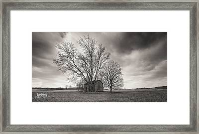 Old House Panorama Framed Print