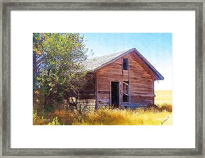 Framed Print featuring the photograph Old House by Susan Kinney