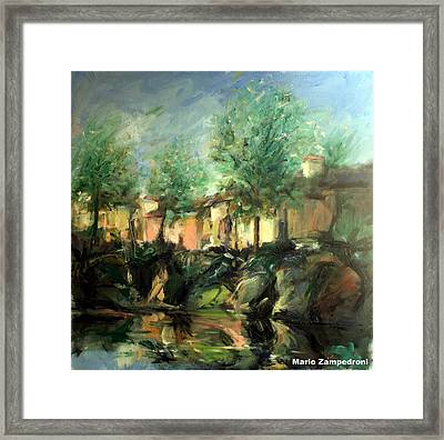 Old Houses Framed Print by Mario Zampedroni