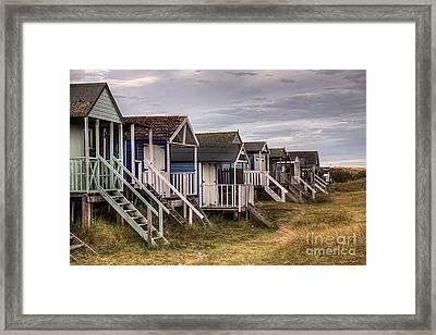 Beach Huts At Old Hunstanton Framed Print