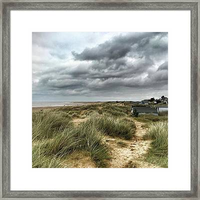 Old Hunstanton Beach, North #norfolk Framed Print