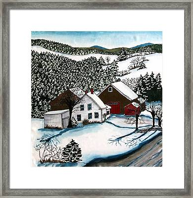 Old Hutchinson Place Framed Print by Linda Marcille