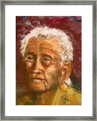 Old Indian Framed Print by Marilyn Barton