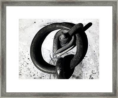 Old Iron Ring Framed Print by John Rizzuto