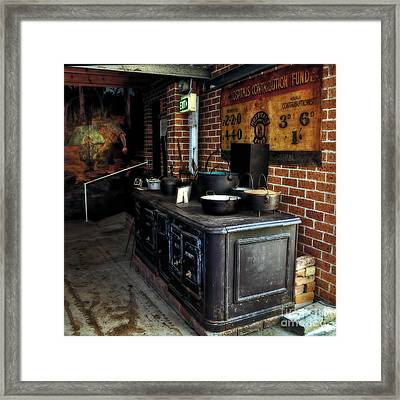 Old Iron Stove - Oven Framed Print by Kaye Menner