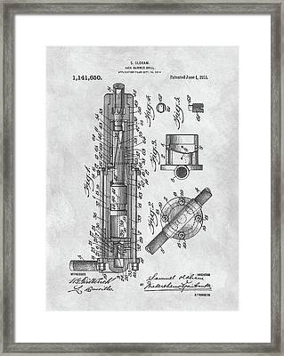 Old Jackhammer Patent Framed Print by Dan Sproul