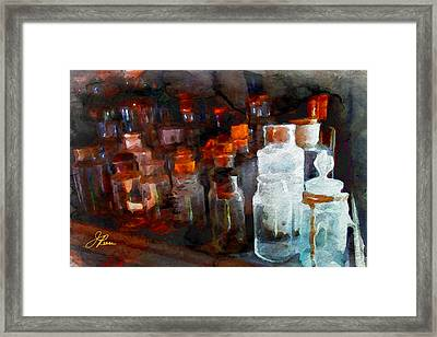 Old Jars Framed Print
