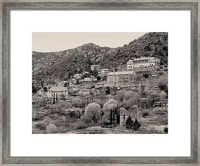 Old Jerome Monochrome Framed Print by Gordon Beck
