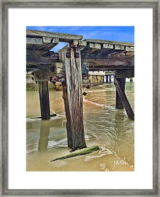 Old Jetty Framed Print by Jan Hattingh