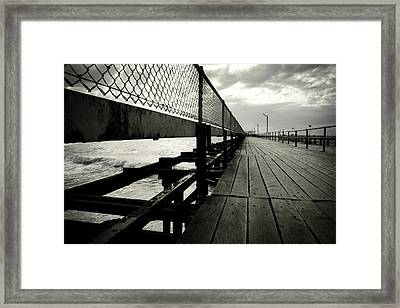 Old Jetty Framed Print by Kelly Jade King