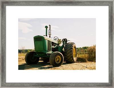 Old John Deere Framed Print