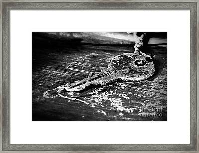 Old Key Framed Print