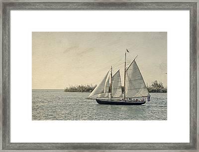 Old Key West Sailing Framed Print