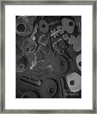 Old Keys Framed Print by Edward Fielding