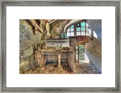 Old Kitchen - Vecchia Cucina Framed Print