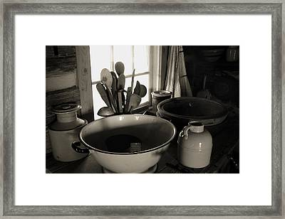 Framed Print featuring the photograph Old Kitchen Stuff by Joanne Coyle