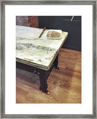 Old Kitchen Table Framed Print