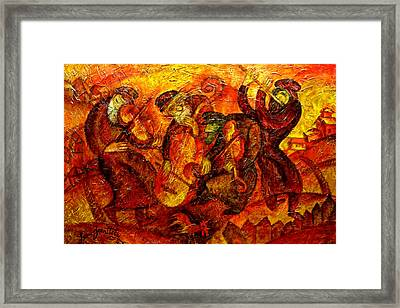 Old Klezmer Band Framed Print by Leon Zernitsky