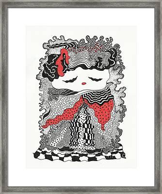 Old Lady Framed Print by Fla Arakaki